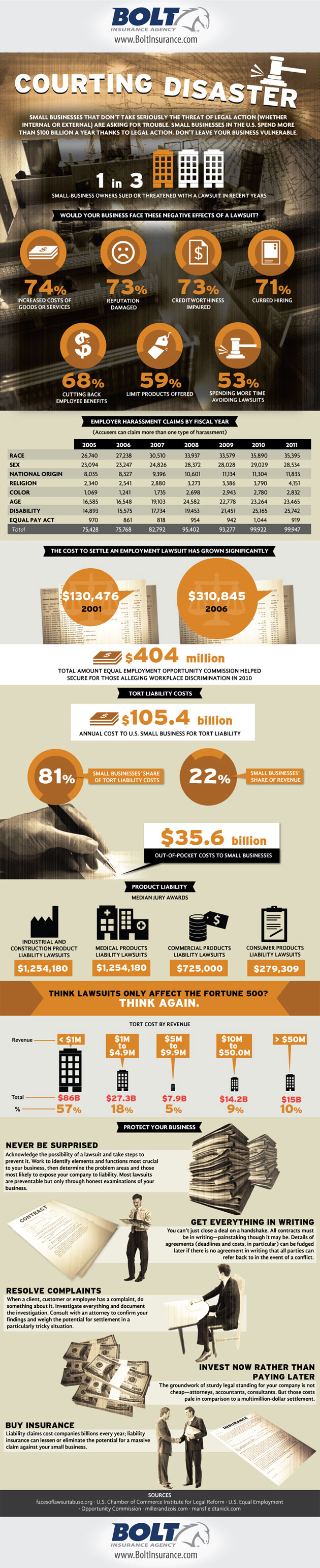Small Business Lawsuits Infographic